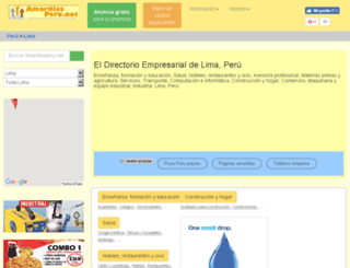 lima.amarillasperu.net screenshot