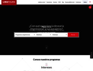 limatours.com.pe screenshot