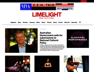 limelightmagazine.com.au screenshot