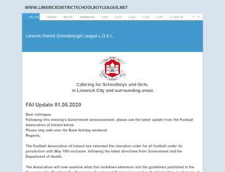 limerickdistrictschoolboyleague.net screenshot