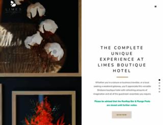 limeshotel.com.au screenshot