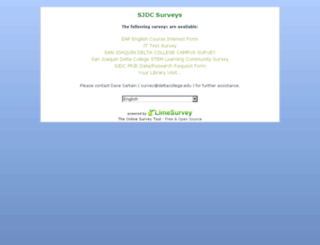 limesurvey.deltacollege.edu screenshot