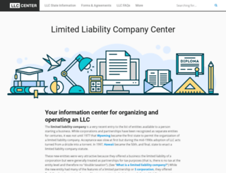 limitedliabilitycompanycenter.com screenshot