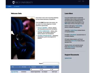limitedsubs.rice.edu screenshot