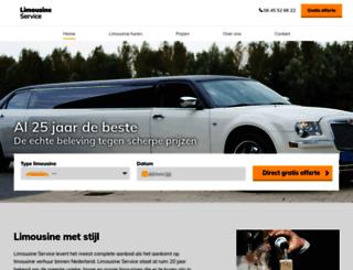 limousineservice.nl screenshot