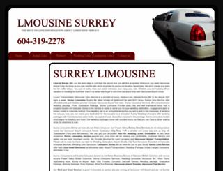 limousinesurrey.com screenshot