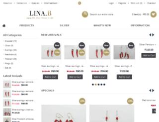 lina-b.co.za screenshot