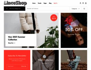 linceshop.es screenshot