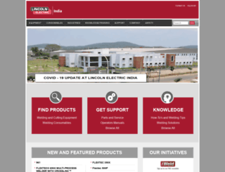 lincolnelectric.in screenshot