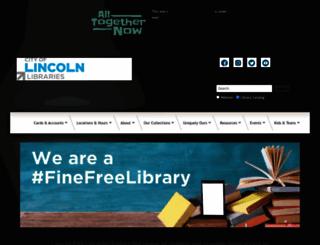 lincolnlibraries.org screenshot