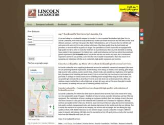 lincolnlocksmiths.biz screenshot