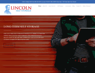 lincolnselfstorage.com screenshot