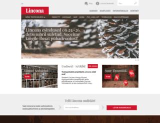 lincona.ee screenshot