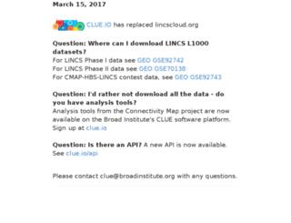 lincscloud.org screenshot