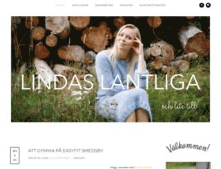 lindaslantliga.com screenshot