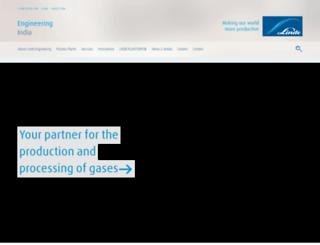 linde-india.com screenshot