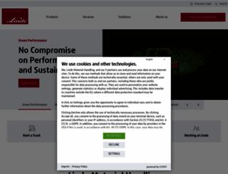 linde-mh.com screenshot