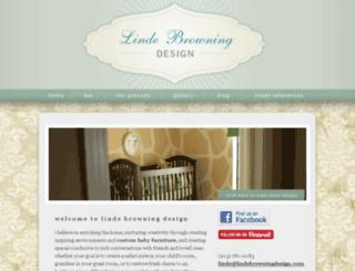 lindebrowningdesign.com screenshot