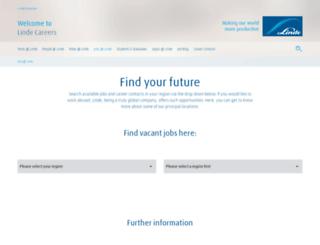 lindejobs.com screenshot