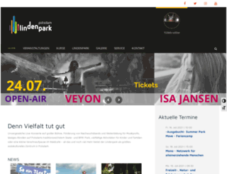 lindenpark.de screenshot