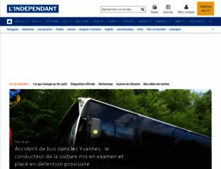 lindependant.fr screenshot