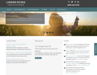 lindermyers.co.uk screenshot