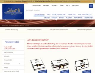 lindt-diva.de screenshot