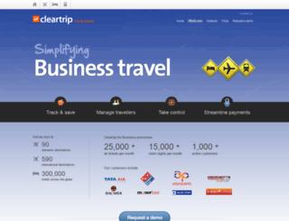 line.cleartripforbusiness.com screenshot
