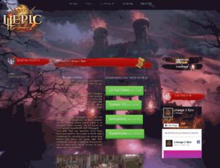 lineage2epic.com screenshot