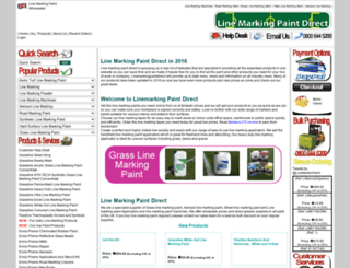 linemarkingpaintdirect.com screenshot