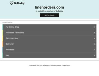 linenorders.com screenshot