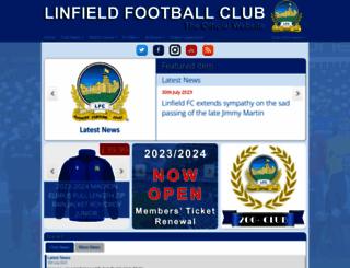 linfieldfc.com screenshot