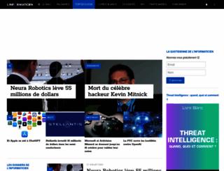 linformaticien.com screenshot