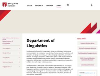 ling.mq.edu.au screenshot