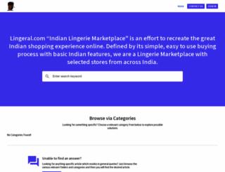 lingeral.uvdesk.com screenshot