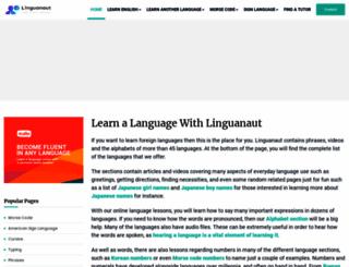 linguanaut.com screenshot