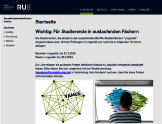 linguistics.ruhr-uni-bochum.de screenshot