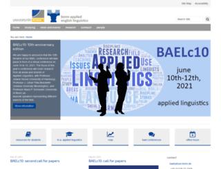 linguistics.uni-bonn.de screenshot