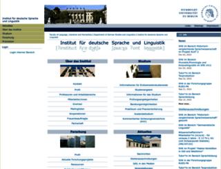 linguistik.hu-berlin.de screenshot