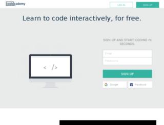 link.codecademy.com screenshot