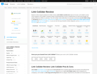 linkcollider.knoji.com screenshot