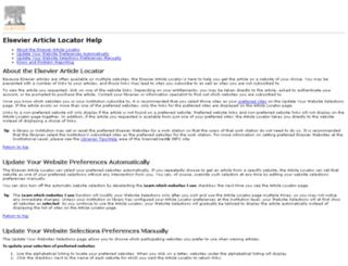linkinghubhelp.elsevier.com screenshot
