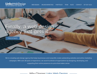 linkswebhosting.com screenshot
