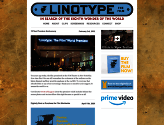 linotypefilm.com screenshot