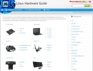linux-hardware-guide.de screenshot