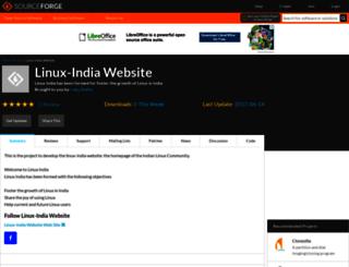linux-india.sourceforge.net screenshot