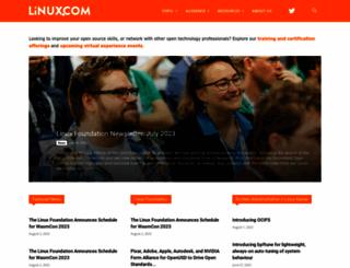 linux.com screenshot
