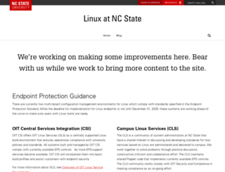 linux.ncsu.edu screenshot