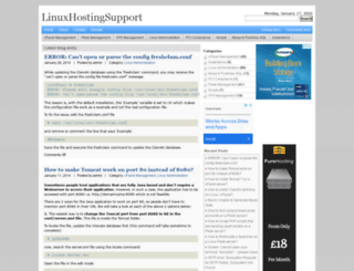 linuxhostingsupport.net screenshot