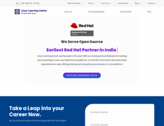 linuxlearningcentre.com screenshot